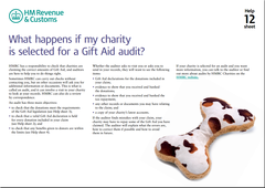 What happens if my charity is selected for a Gift Aid audit?