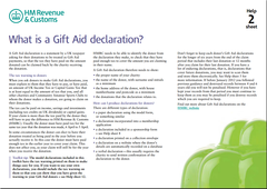 What is a Gift Aid declaration?