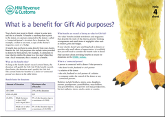 What is a benefit for Gift Aid purposes?