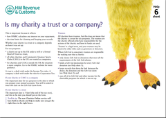 Is my charity a trust or a company?