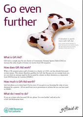 Flyer - Gift Aid